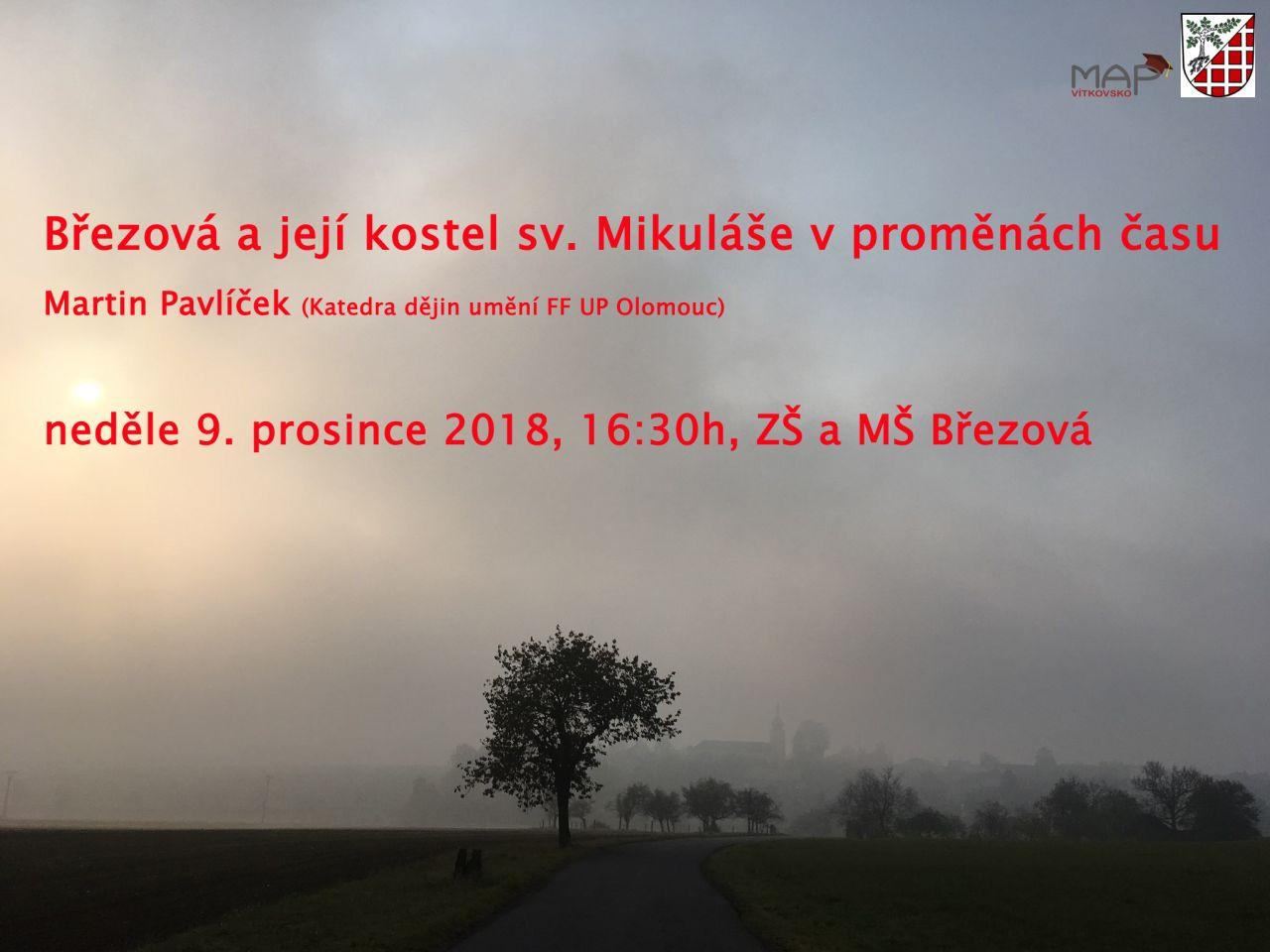 Plakát - přednáška o historii Březové